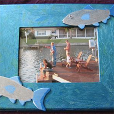 Father's Day fish photo frame