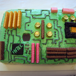 Motherboard Cake