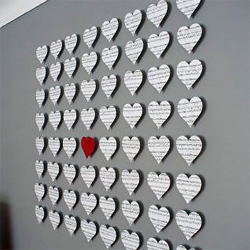Paper Wall Art Hearts