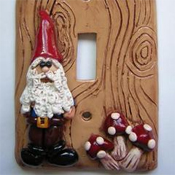 Polymer clay light switch cover