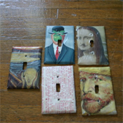 Art light switch covers