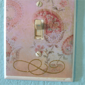 Scrapbook light switch cover