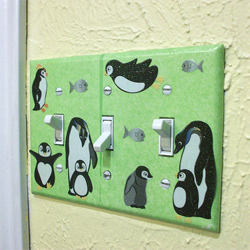 Penguin light switch cover