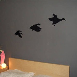Furry wall decals