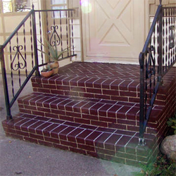 Faux brick stairs