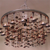 Bicycle spoon chandelier