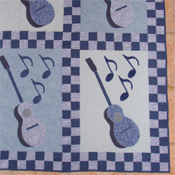 Blues free motion quilt