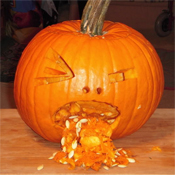 pumpkin carving patterns ideas pictures puking pumpkin