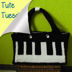 Knit keyboard purse