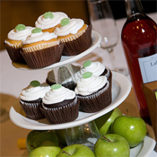 Cupcake and apple centerpiece