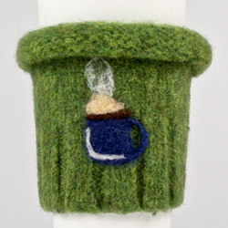 Wool Felted Coffee Cozy