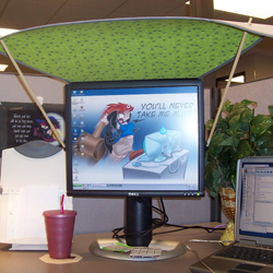 Decorate And Organize Indoor Spaces on Cubicle Desk Ideas