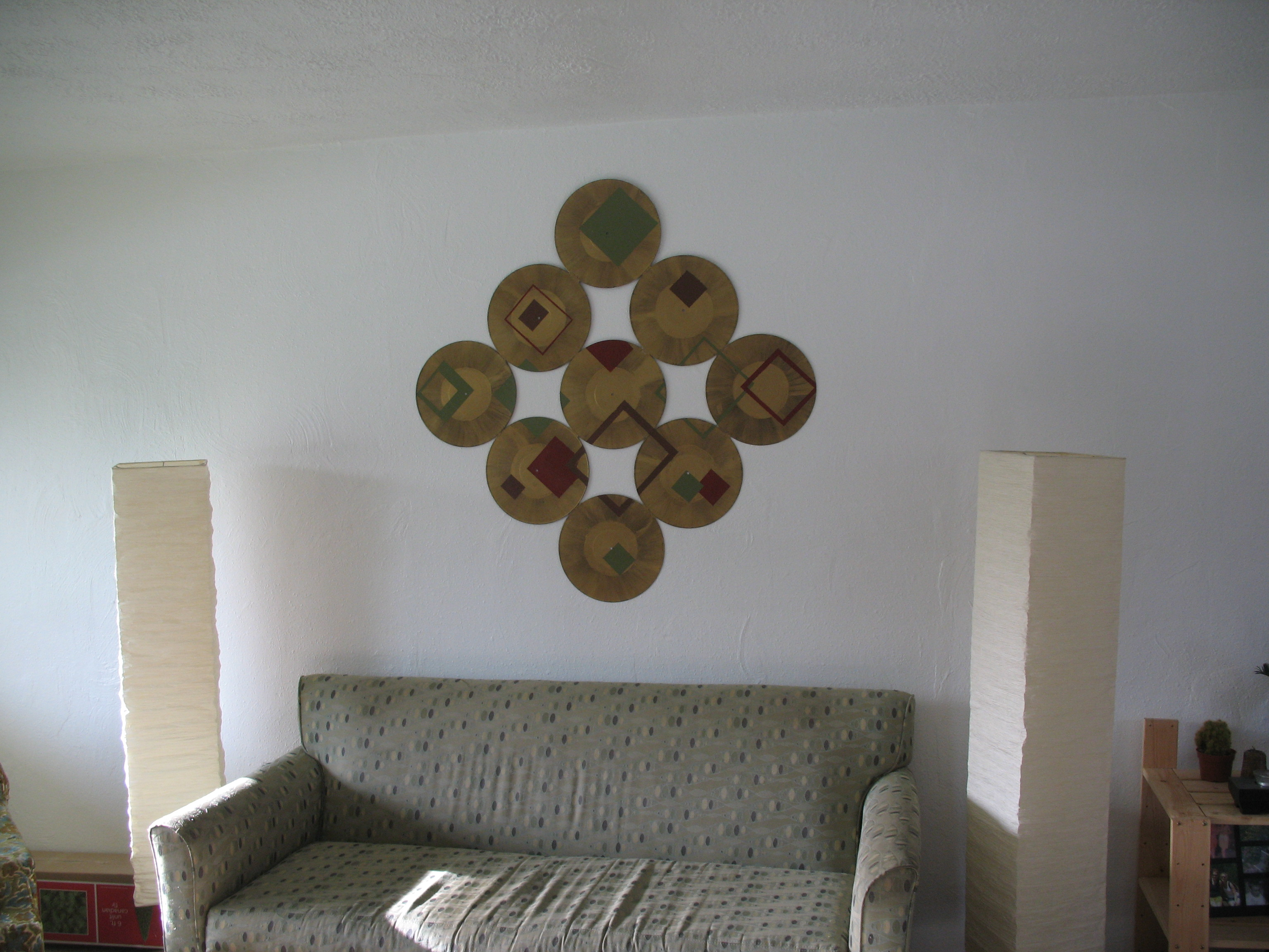 Hanging Records On Wall record wall art!! - home sweet home